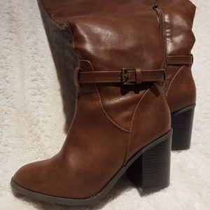 Almond Toe Riding Boots